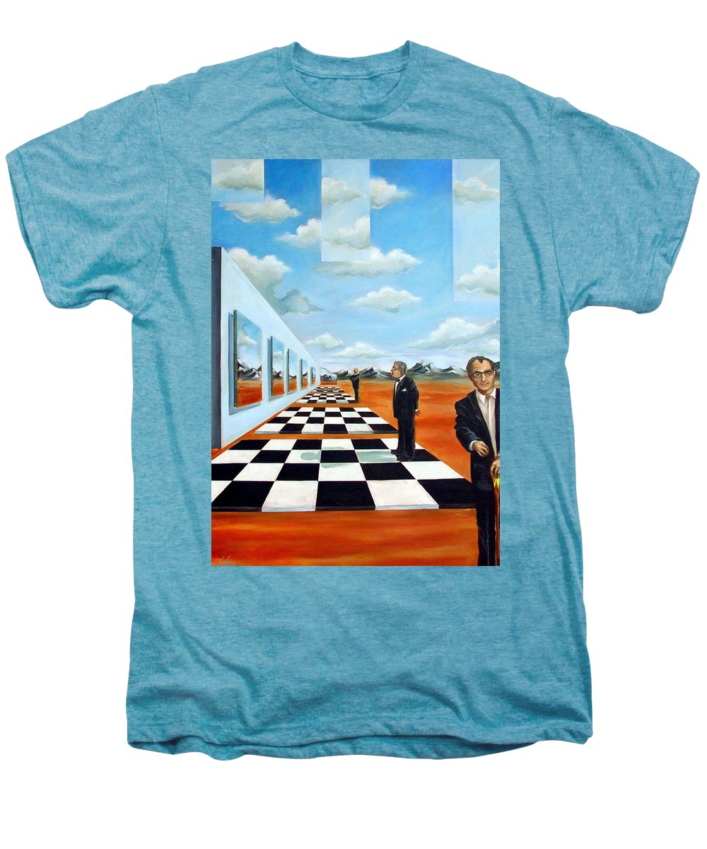 Surreal Men's Premium T-Shirt featuring the painting The Gallery by Valerie Vescovi