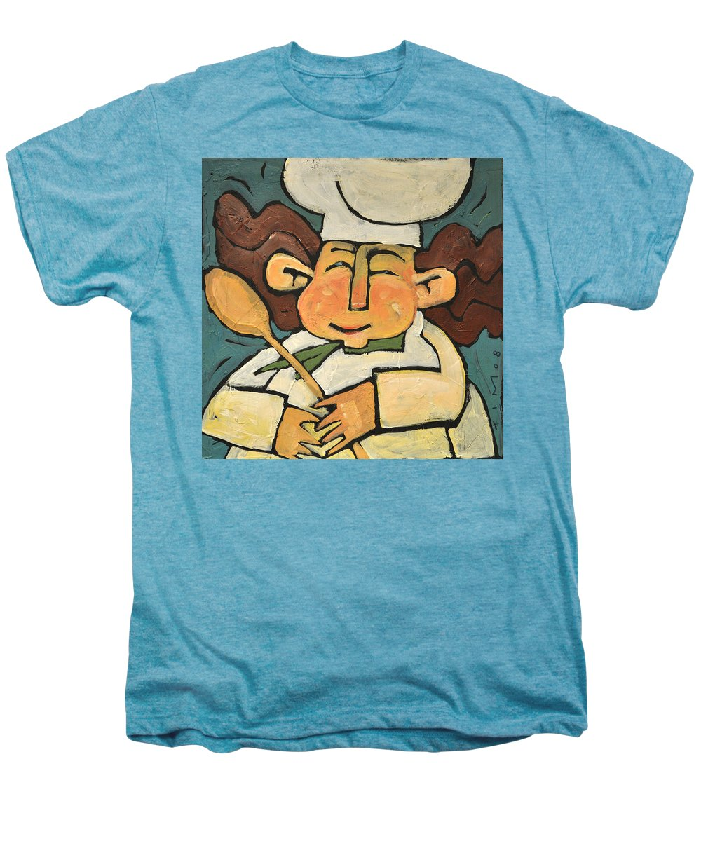 Chef Men's Premium T-Shirt featuring the painting The Happy Chef by Tim Nyberg