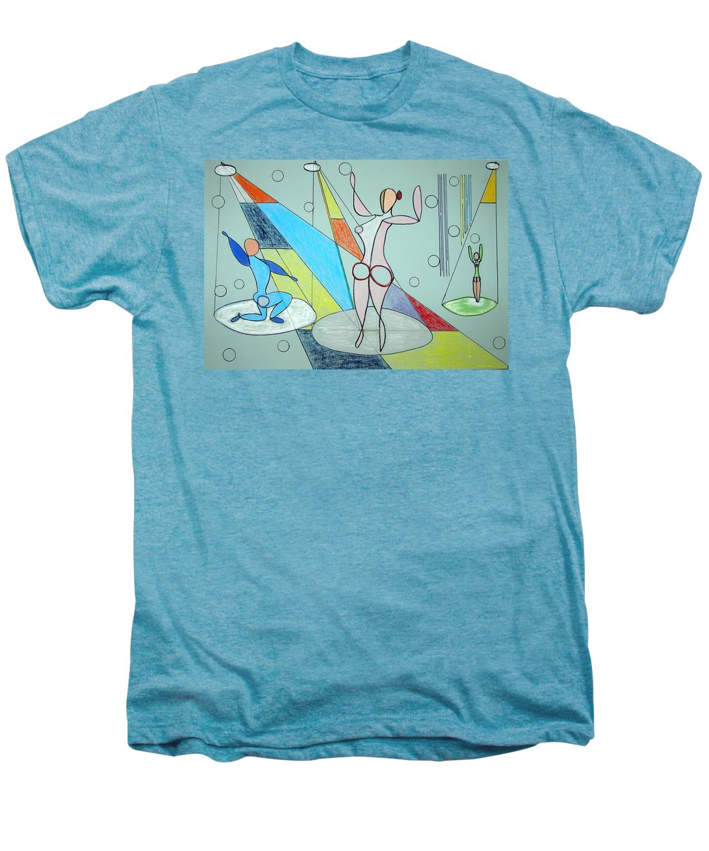 Juggling Men's Premium T-Shirt featuring the drawing The Jugglers by J R Seymour