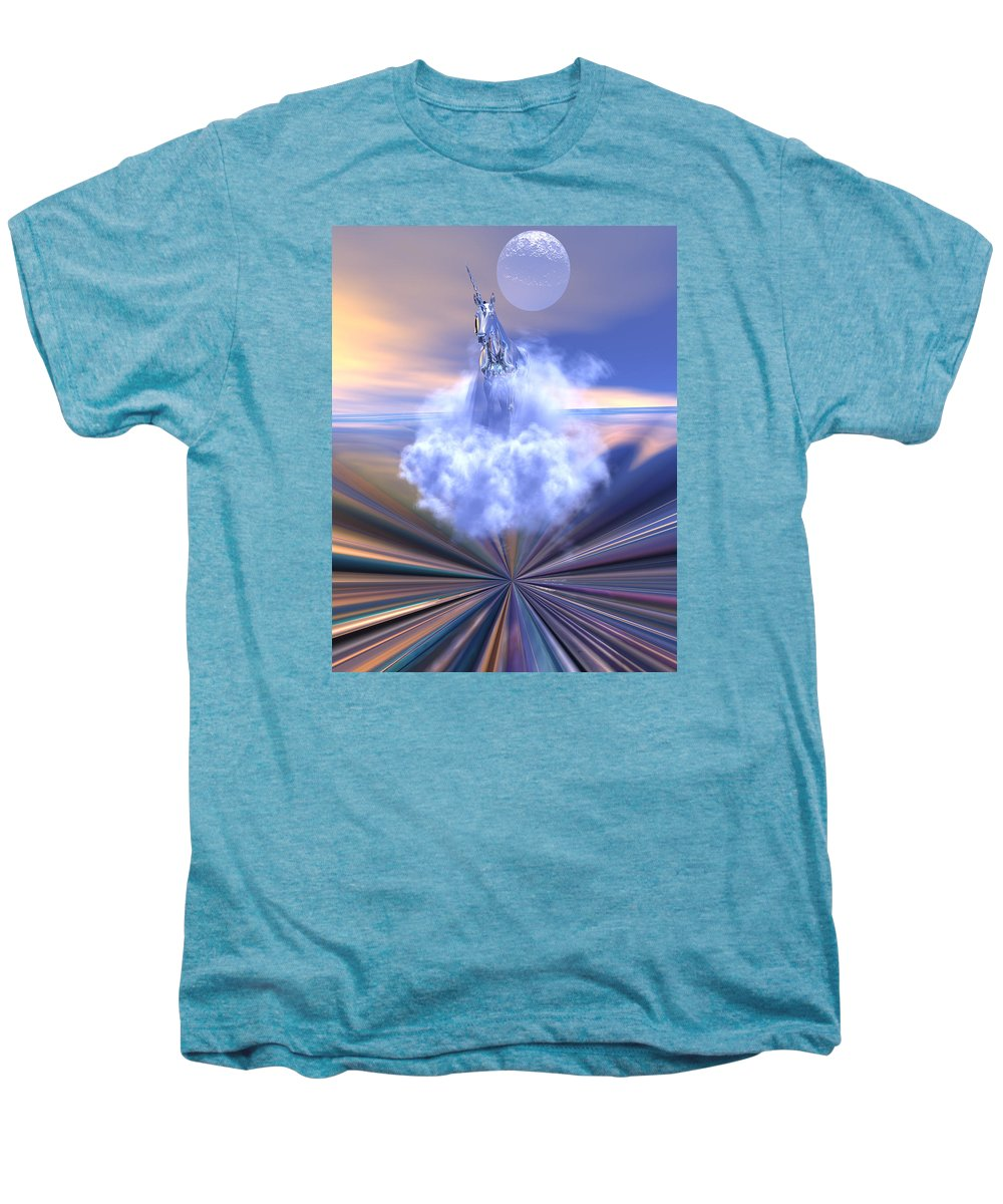 Bryce Men's Premium T-Shirt featuring the digital art The Last Of The Unicorns by Claude McCoy