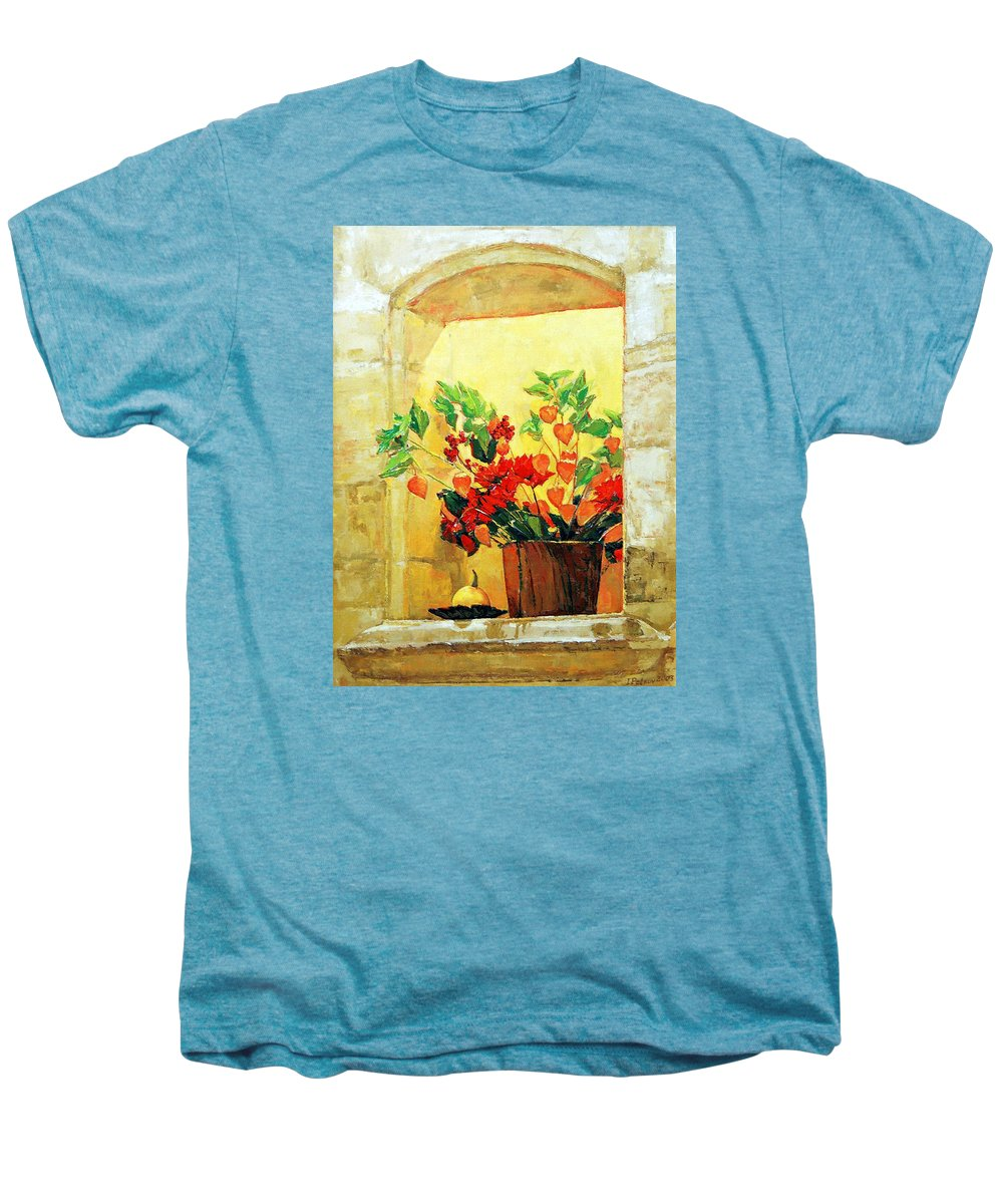 Still Life Men's Premium T-Shirt featuring the painting The Light by Iliyan Bozhanov