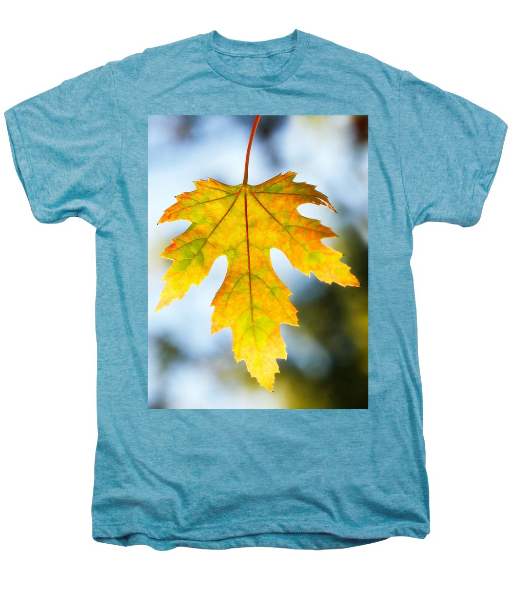 Maple Men's Premium T-Shirt featuring the photograph The Maple Leaf by Marilyn Hunt