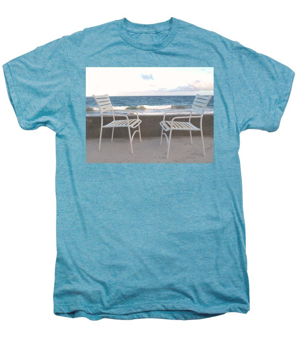 Seascape Men's Premium T-Shirt featuring the photograph The Meeting by Ian MacDonald