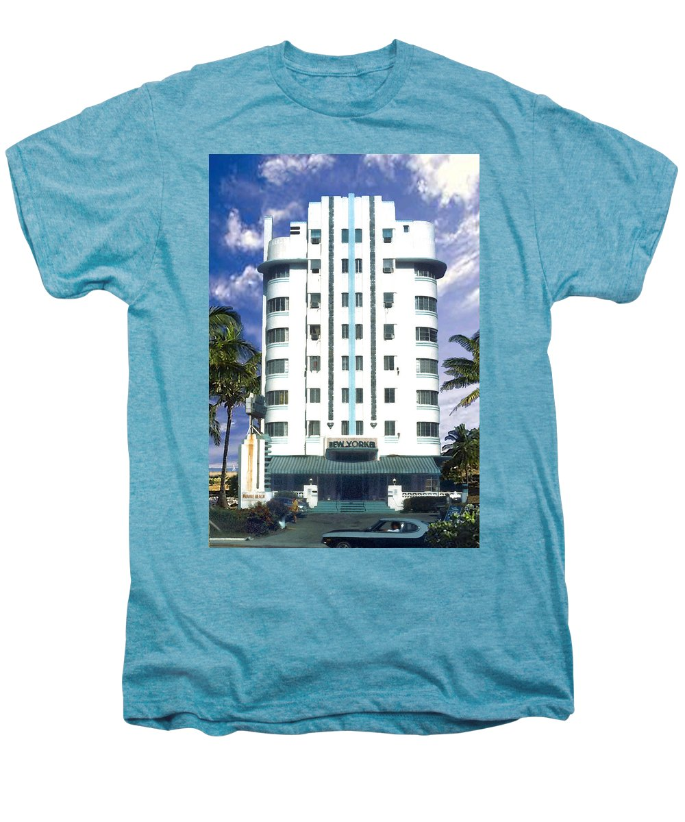 Miami Men's Premium T-Shirt featuring the photograph The New Yorker by Steve Karol