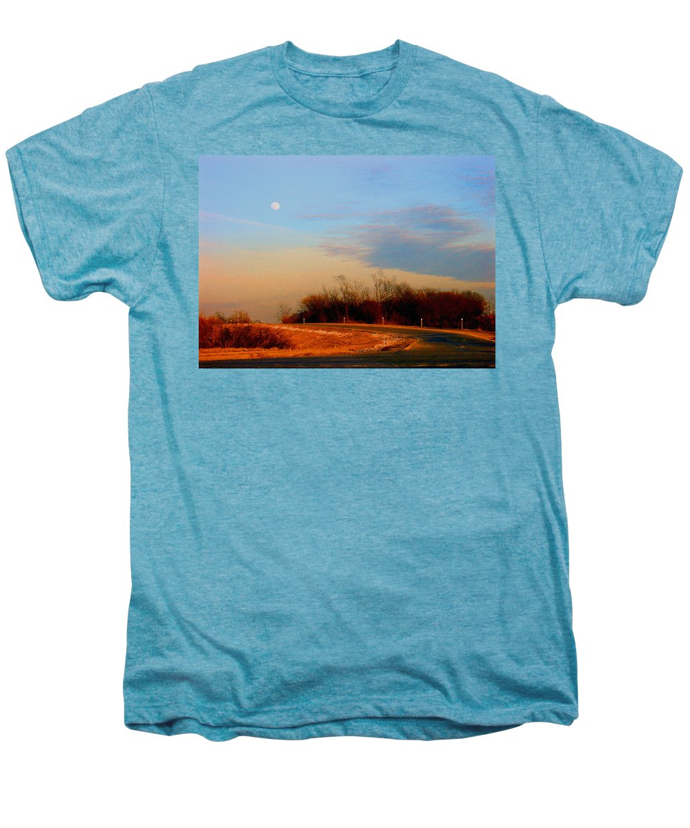 Landscape Men's Premium T-Shirt featuring the photograph The On Ramp by Steve Karol