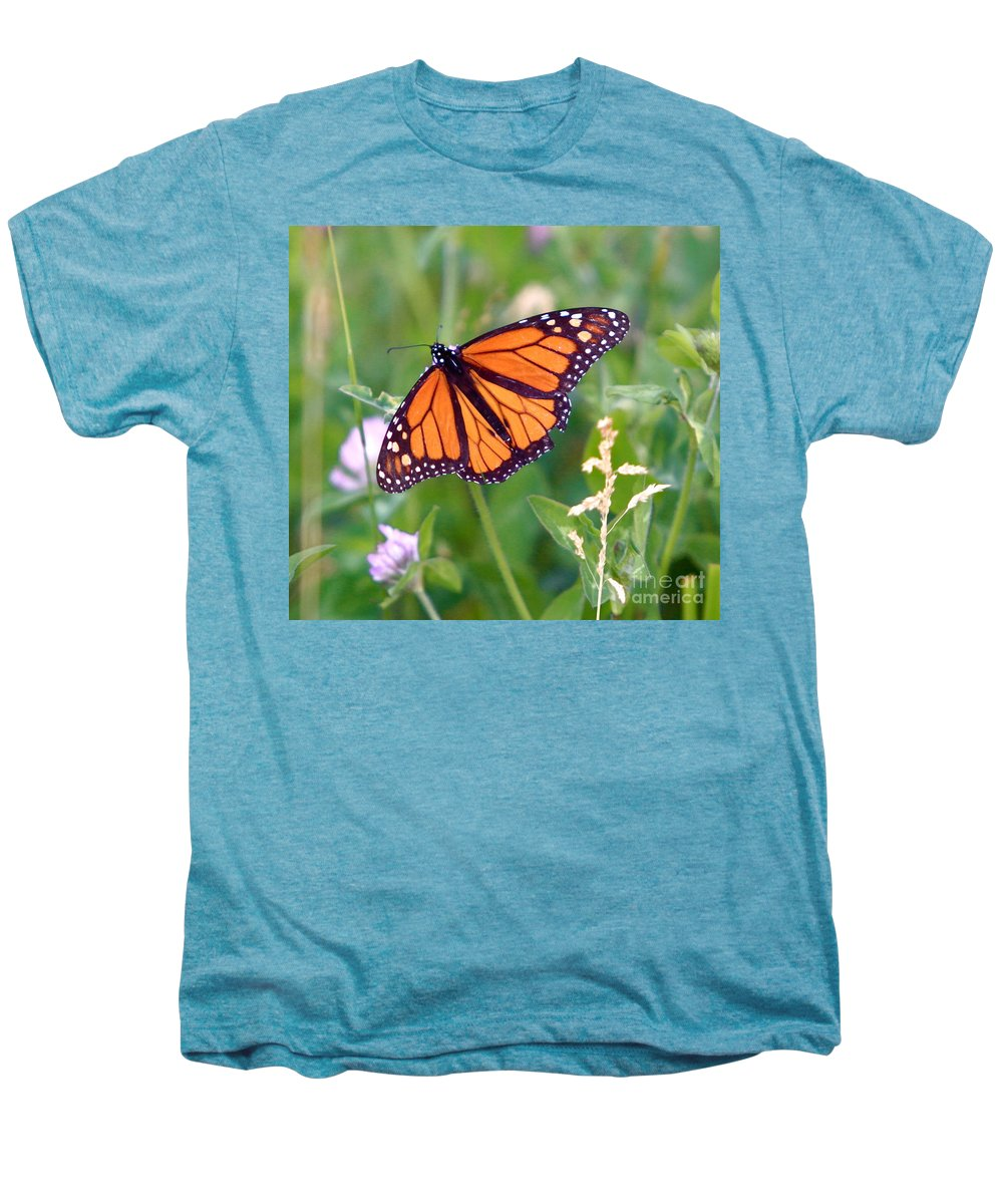 Butterfly Men's Premium T-Shirt featuring the photograph The Orange Butterfly by Robert Pearson
