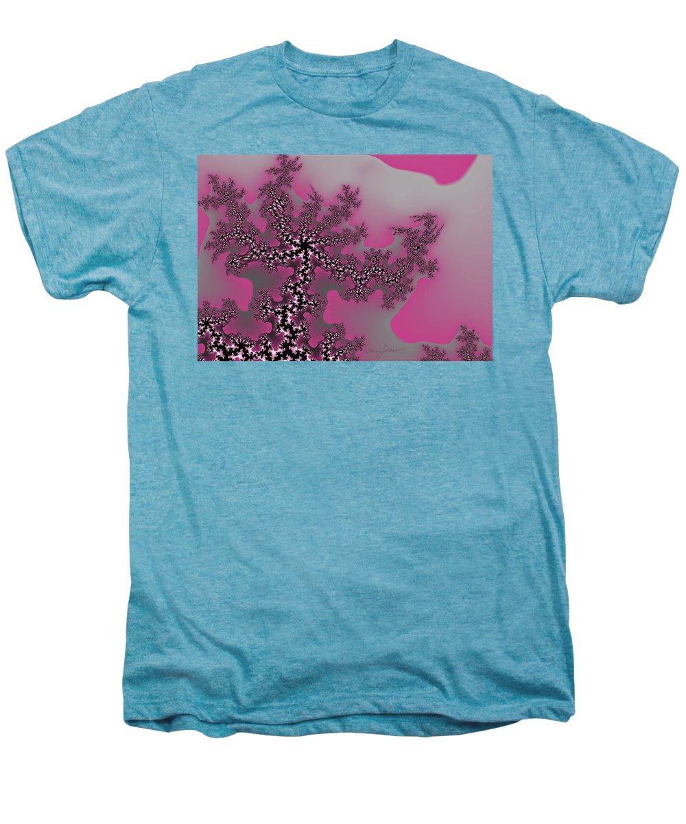 Fractals Tree Nature Oriental Art Men's Premium T-Shirt featuring the digital art The Oriental Tree by Veronica Jackson