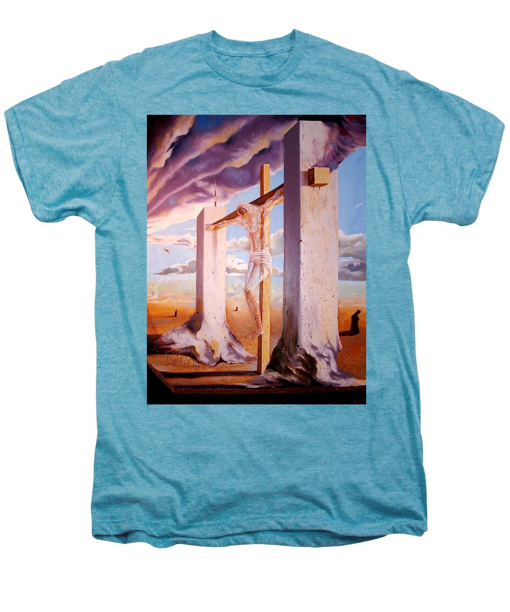 911 Men's Premium T-Shirt featuring the painting The Pain Holder by Darwin Leon