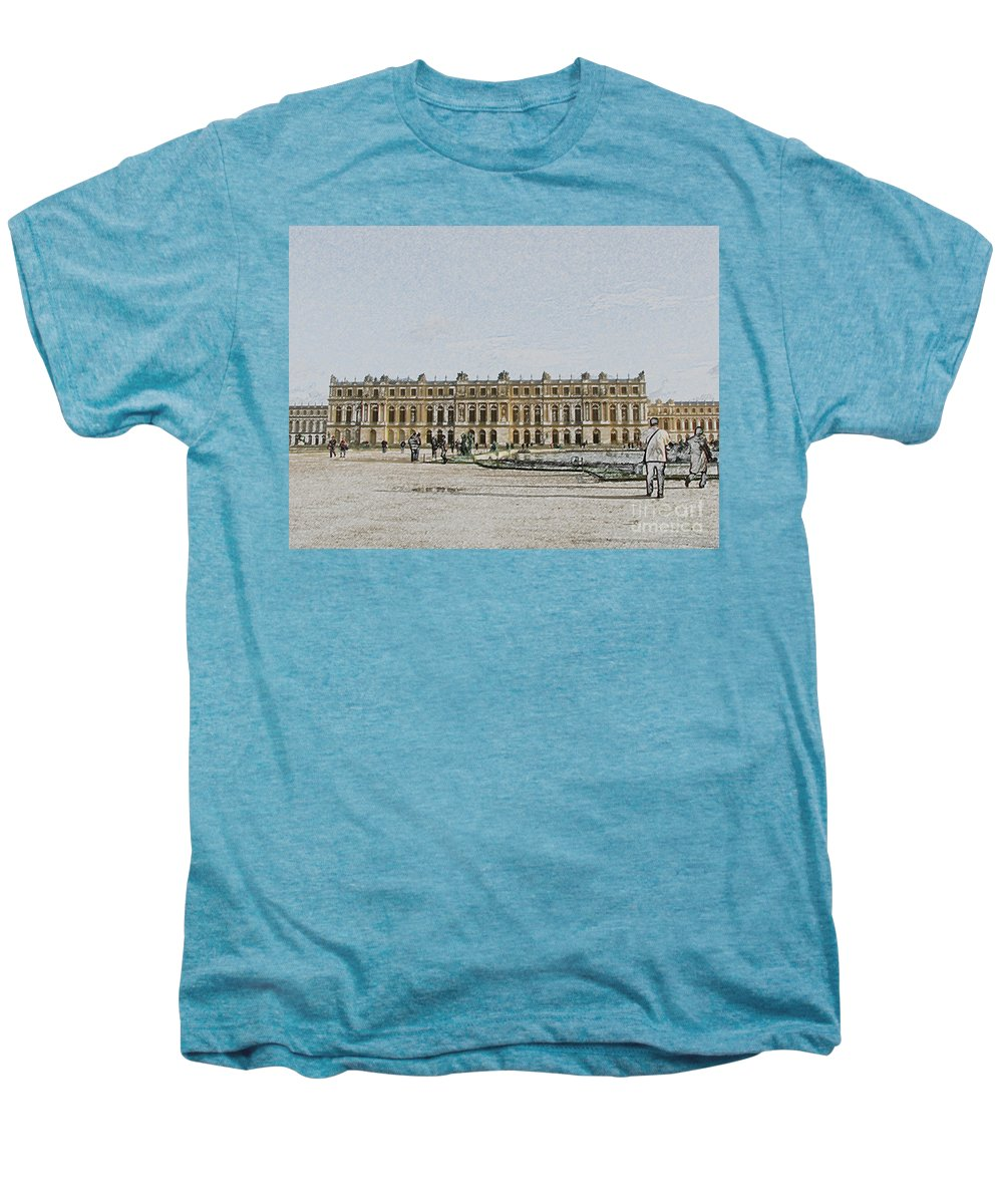 Palace Men's Premium T-Shirt featuring the photograph The Palace Of Versailles by Amanda Barcon