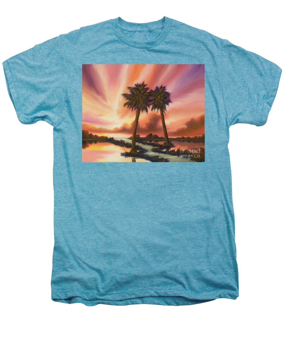 Skyscape Men's Premium T-Shirt featuring the painting The Path Ahead by James Christopher Hill