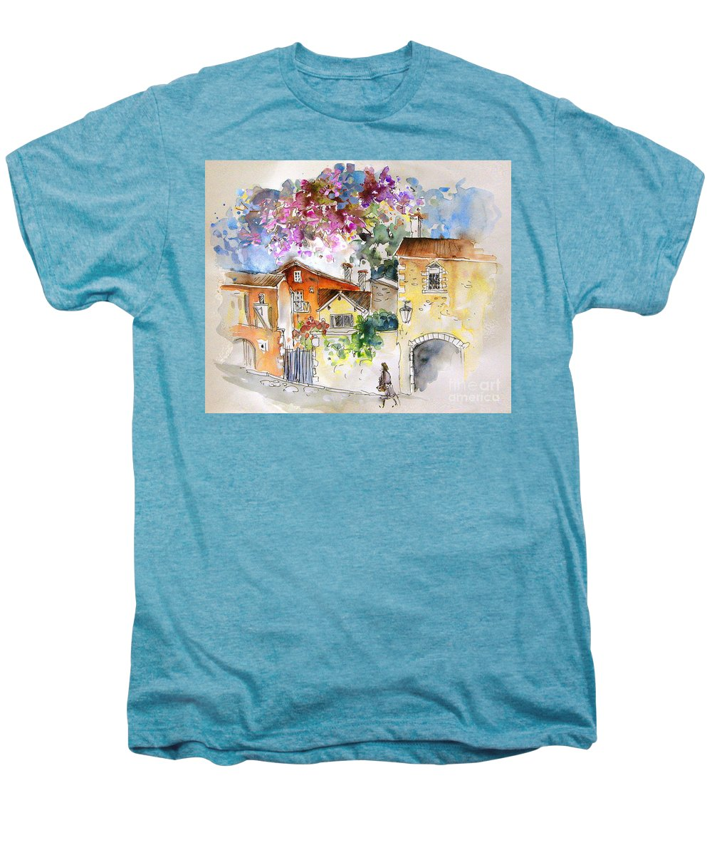 France Paintings Men's Premium T-Shirt featuring the painting The Perigord In France by Miki De Goodaboom