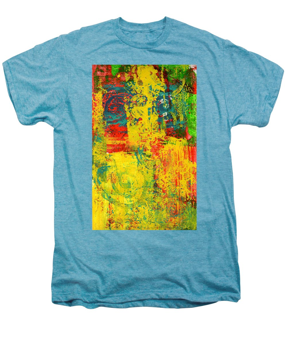Abstract Men's Premium T-Shirt featuring the painting The Power Within by Wayne Potrafka