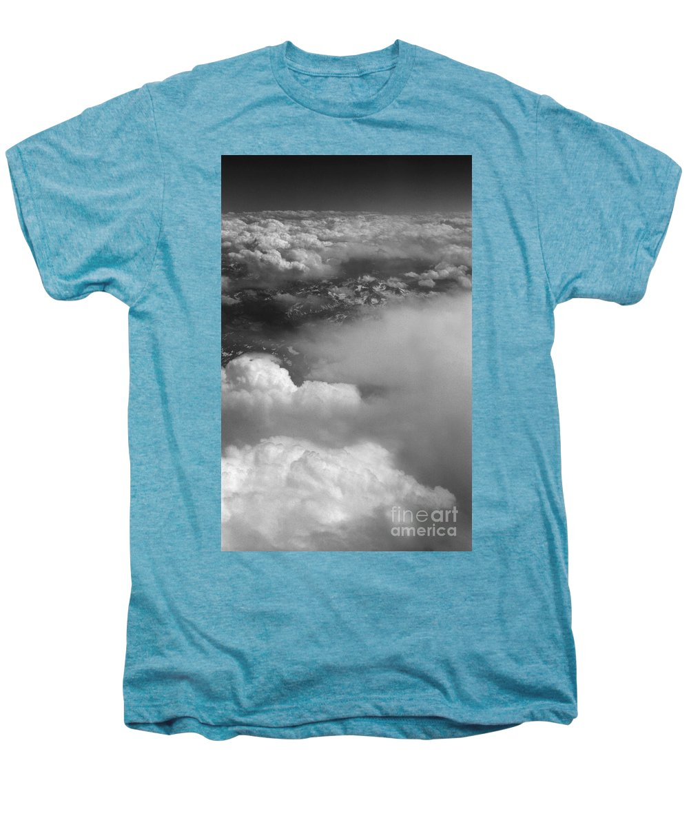 Aerial Photography Men's Premium T-Shirt featuring the photograph The Rockies by Richard Rizzo