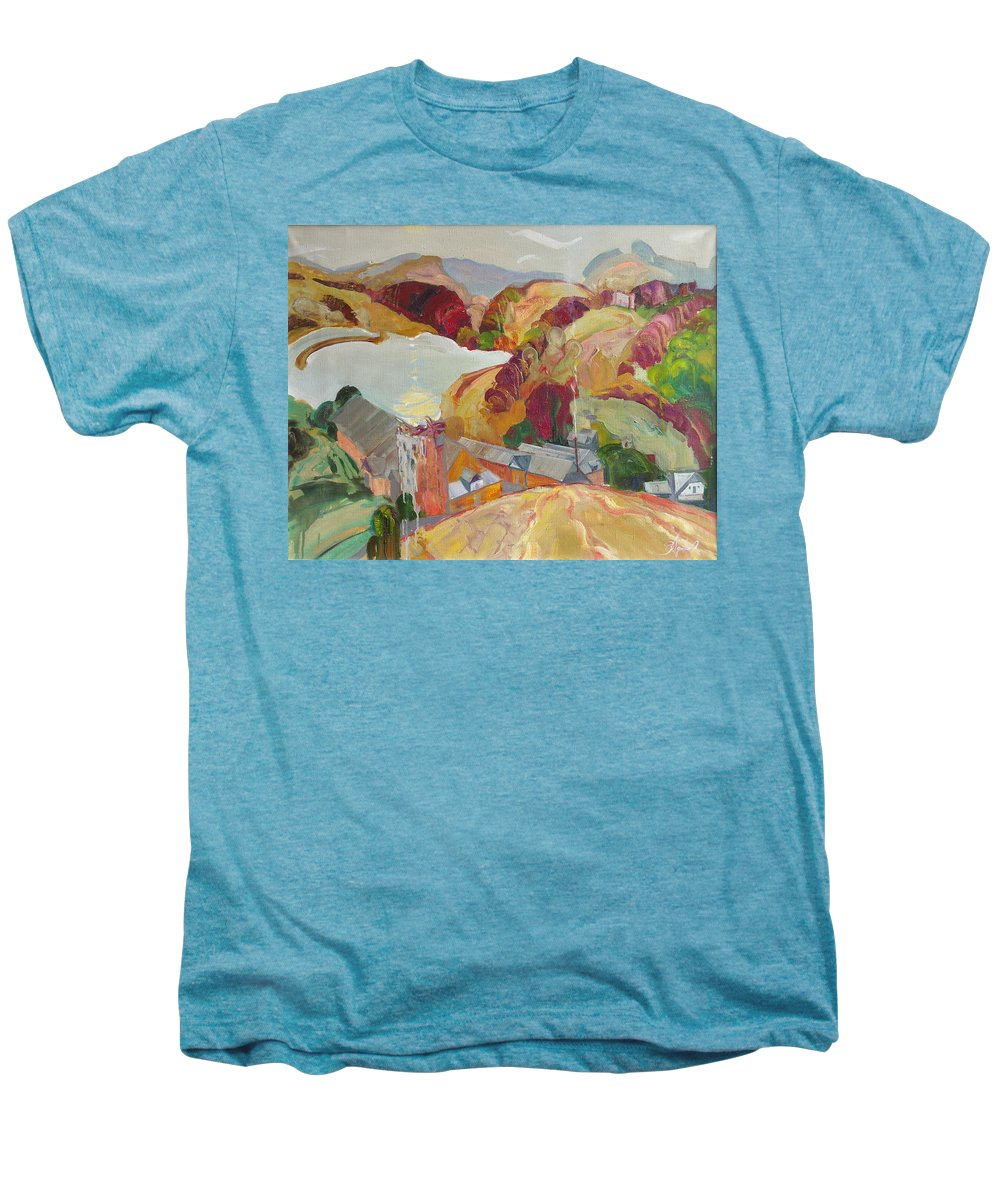 Oil Men's Premium T-Shirt featuring the painting The Slovechansk Edge by Sergey Ignatenko