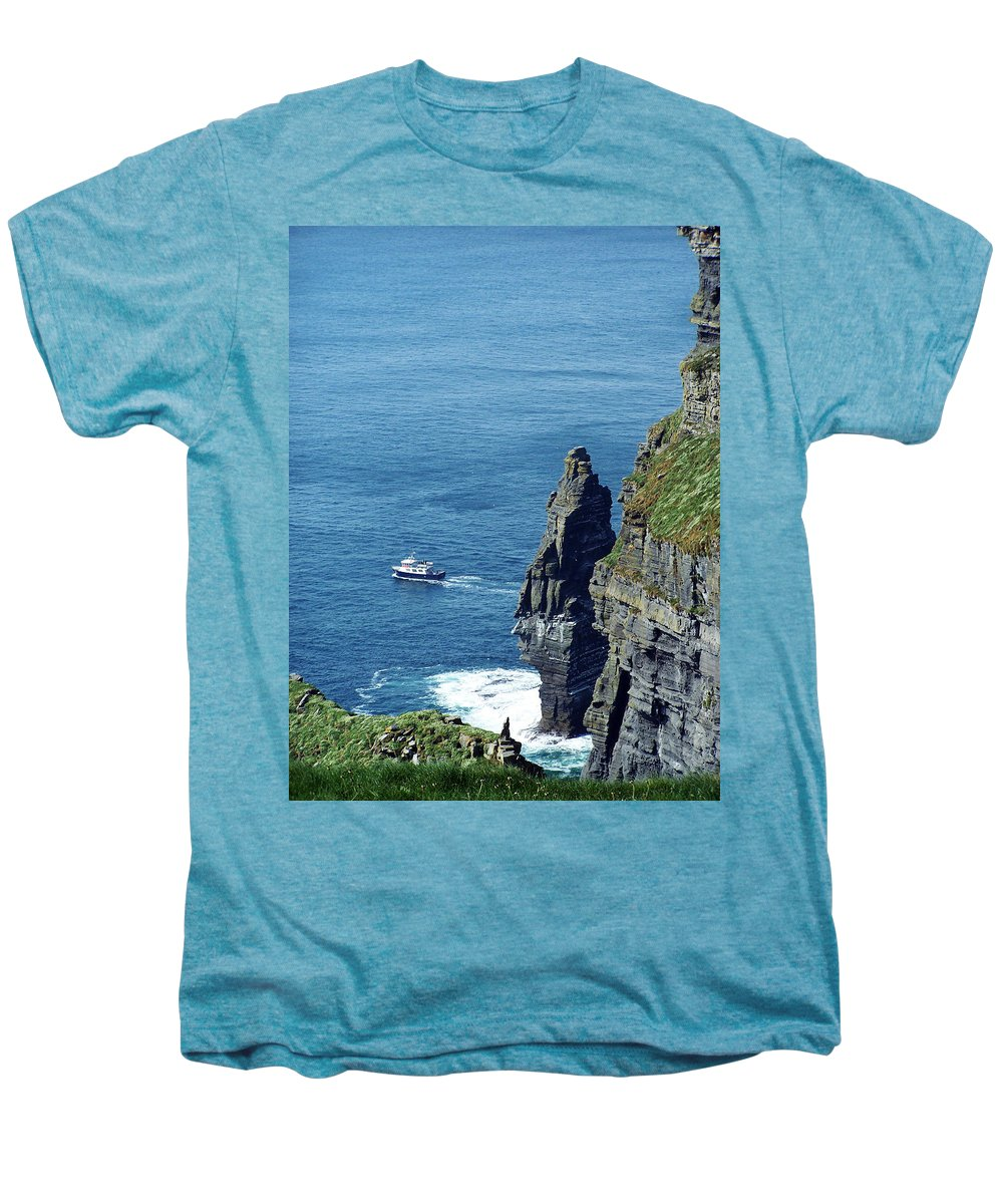 Irish Men's Premium T-Shirt featuring the photograph The Stack And The Jack B Cliffs Of Moher Ireland by Teresa Mucha