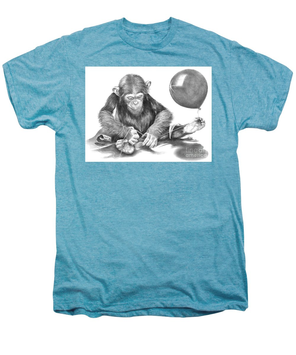 Pencil Men's Premium T-Shirt featuring the drawing The String Theory by Murphy Elliott