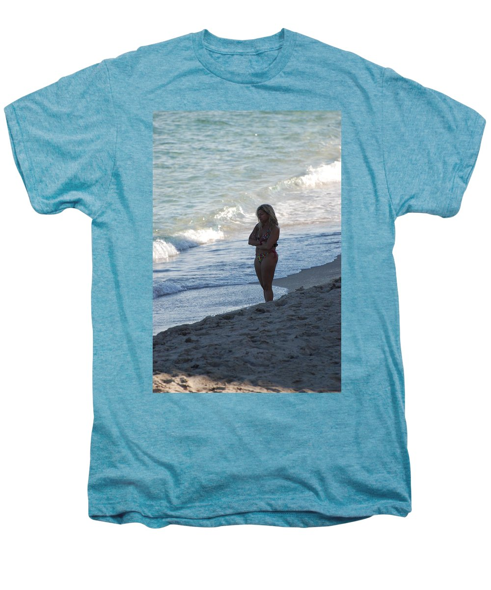 Sea Scape Men's Premium T-Shirt featuring the photograph The Thinking Women by Rob Hans