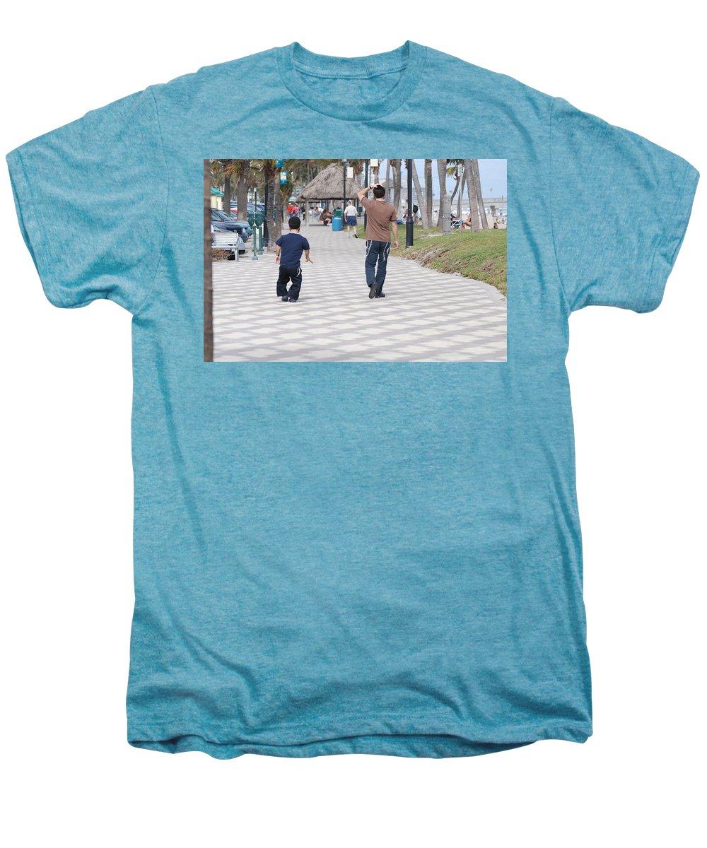 Man Men's Premium T-Shirt featuring the photograph The Walk by Rob Hans