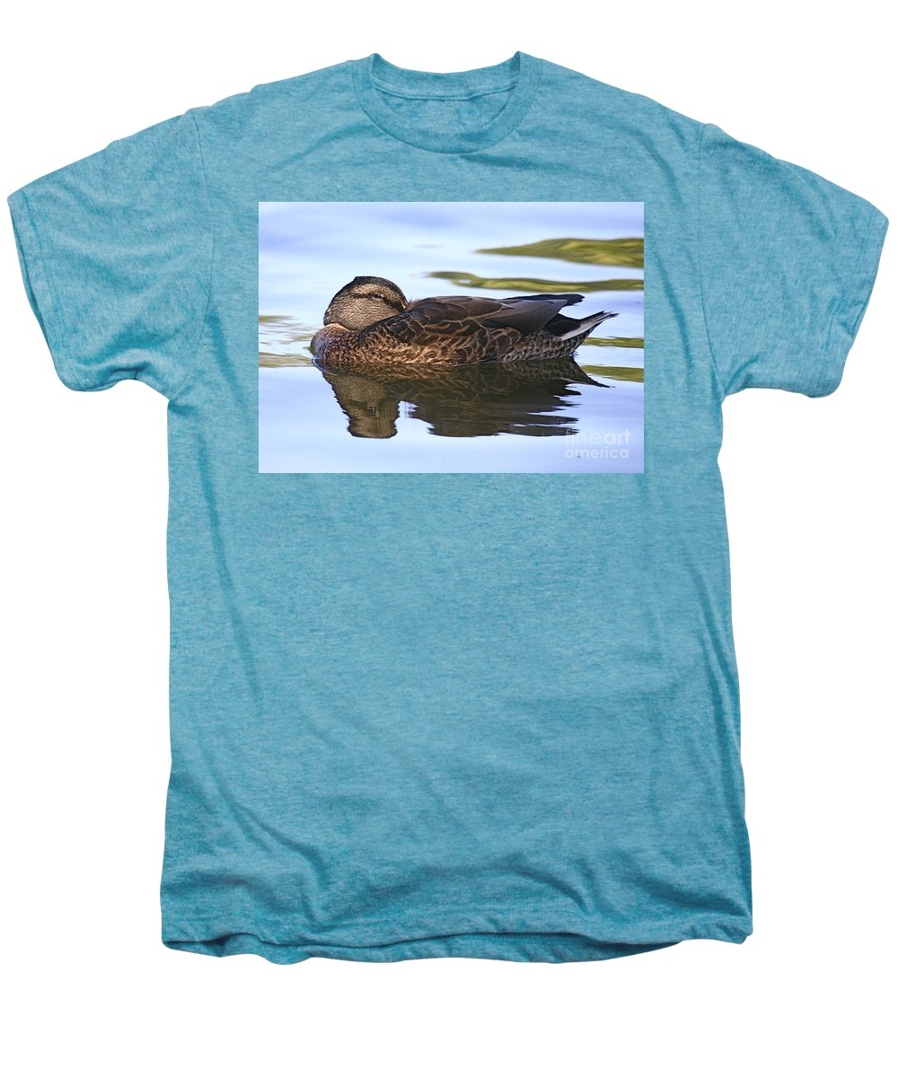 Duck Men's Premium T-Shirt featuring the photograph The Water Bed by Robert Pearson