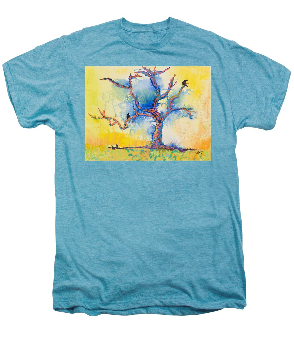 Abstract Painting Men's Premium T-Shirt featuring the mixed media The Wind Riders by Pat Saunders-White