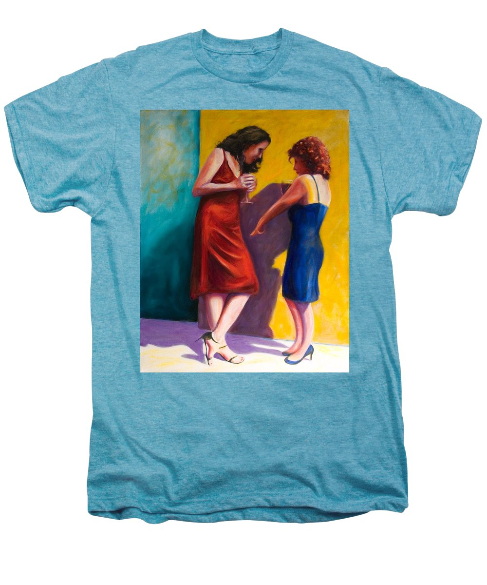 Figurative Men's Premium T-Shirt featuring the painting There by Shannon Grissom
