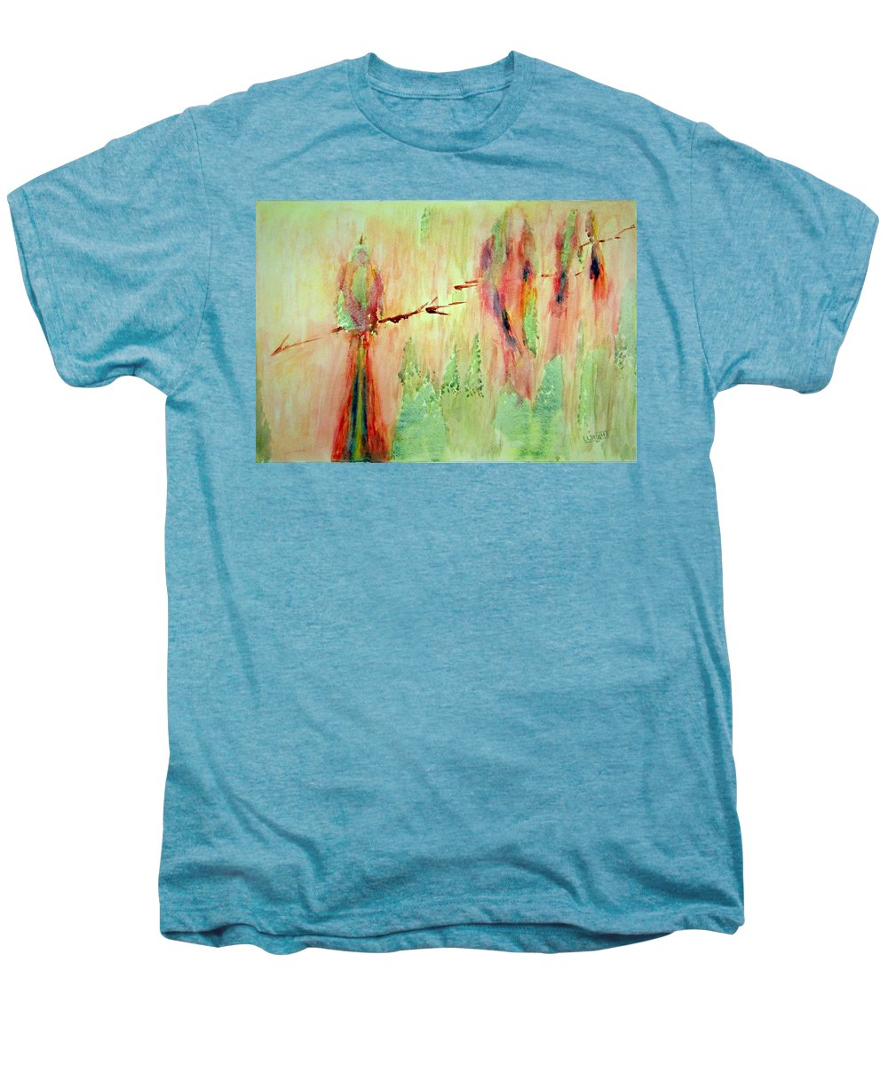 Abstract Art Men's Premium T-Shirt featuring the painting This Must Be A Dream by Larry Wright