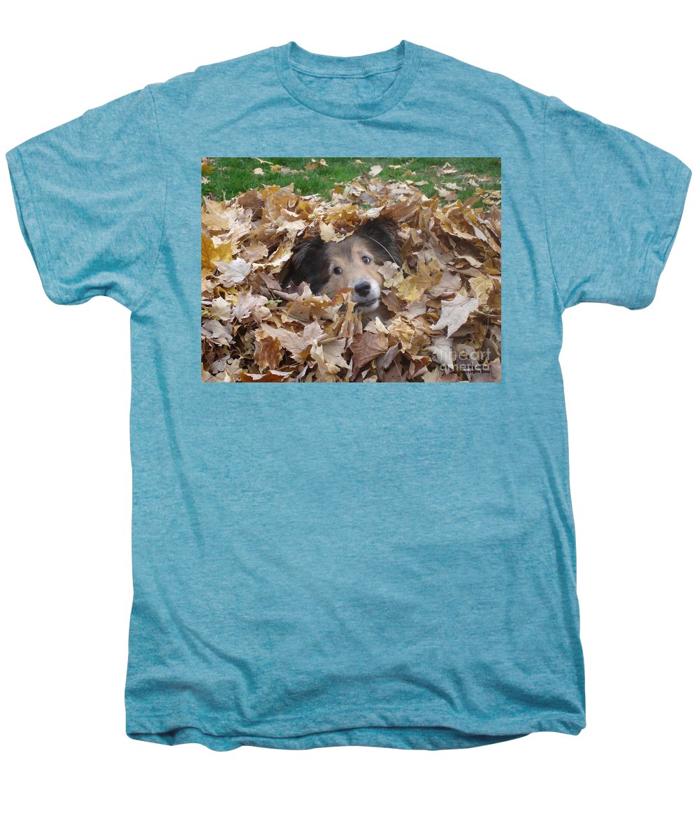 Dog Men's Premium T-Shirt featuring the photograph Those Eyes by Shelley Jones