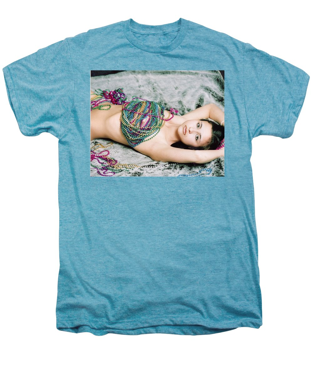 Female Artistic Nude Men's Premium T-Shirt featuring the photograph Those Eyes by Tom Hufford