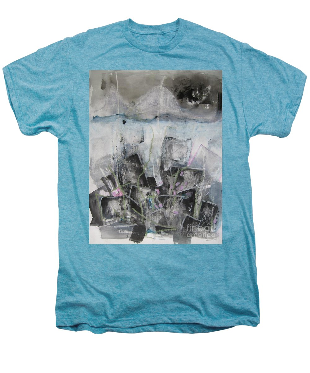 Cemetery Men's Premium T-Shirt featuring the painting Three Arms by Seon-Jeong Kim