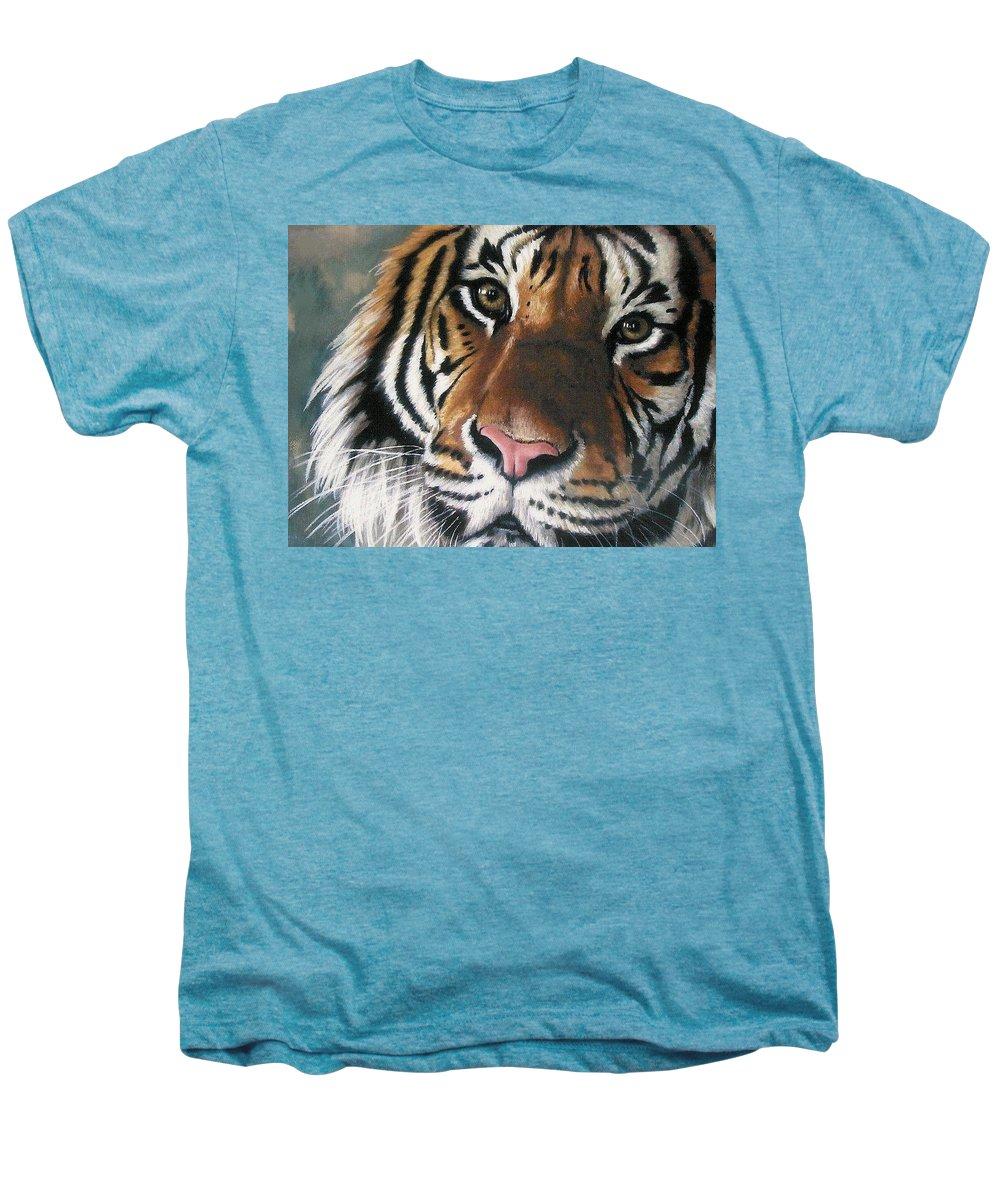 Tiger Men's Premium T-Shirt featuring the pastel Tigger by Barbara Keith