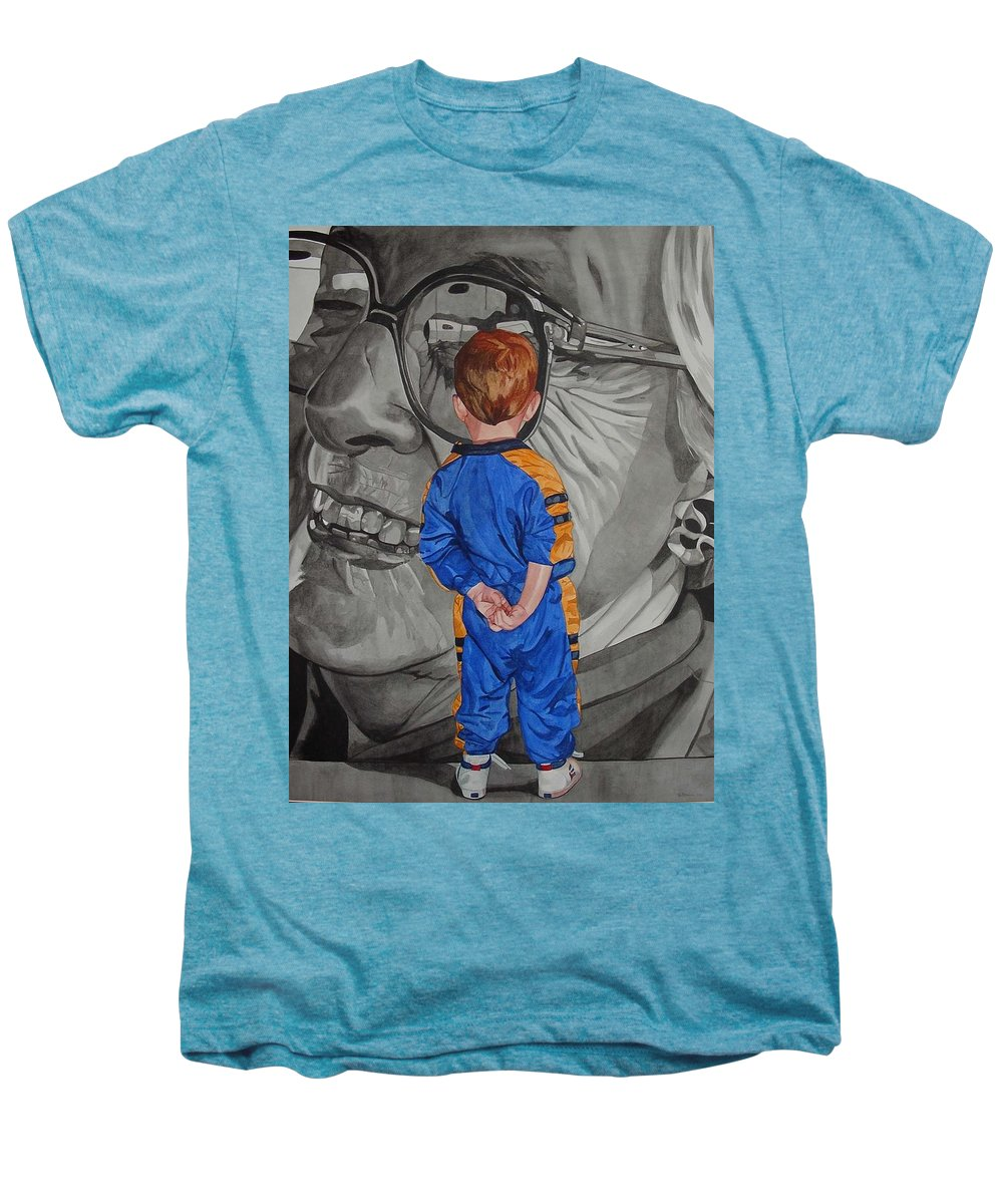 Children Men's Premium T-Shirt featuring the painting Timeless Contemplation by Valerie Patterson