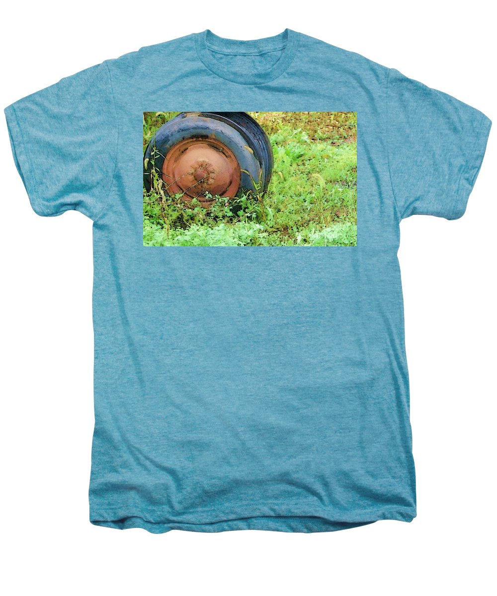 Tire Men's Premium T-Shirt featuring the photograph Tired by Debbi Granruth