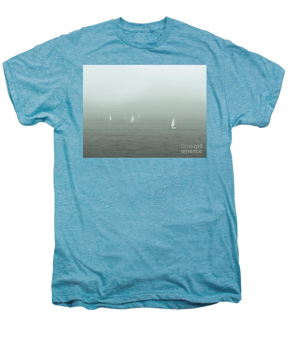 Blue Men's Premium T-Shirt featuring the photograph To Come Upon The Solstice And Have No Fear by Dana DiPasquale