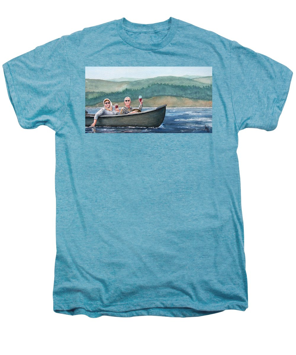 Canoe Men's Premium T-Shirt featuring the painting To Life by Gale Cochran-Smith