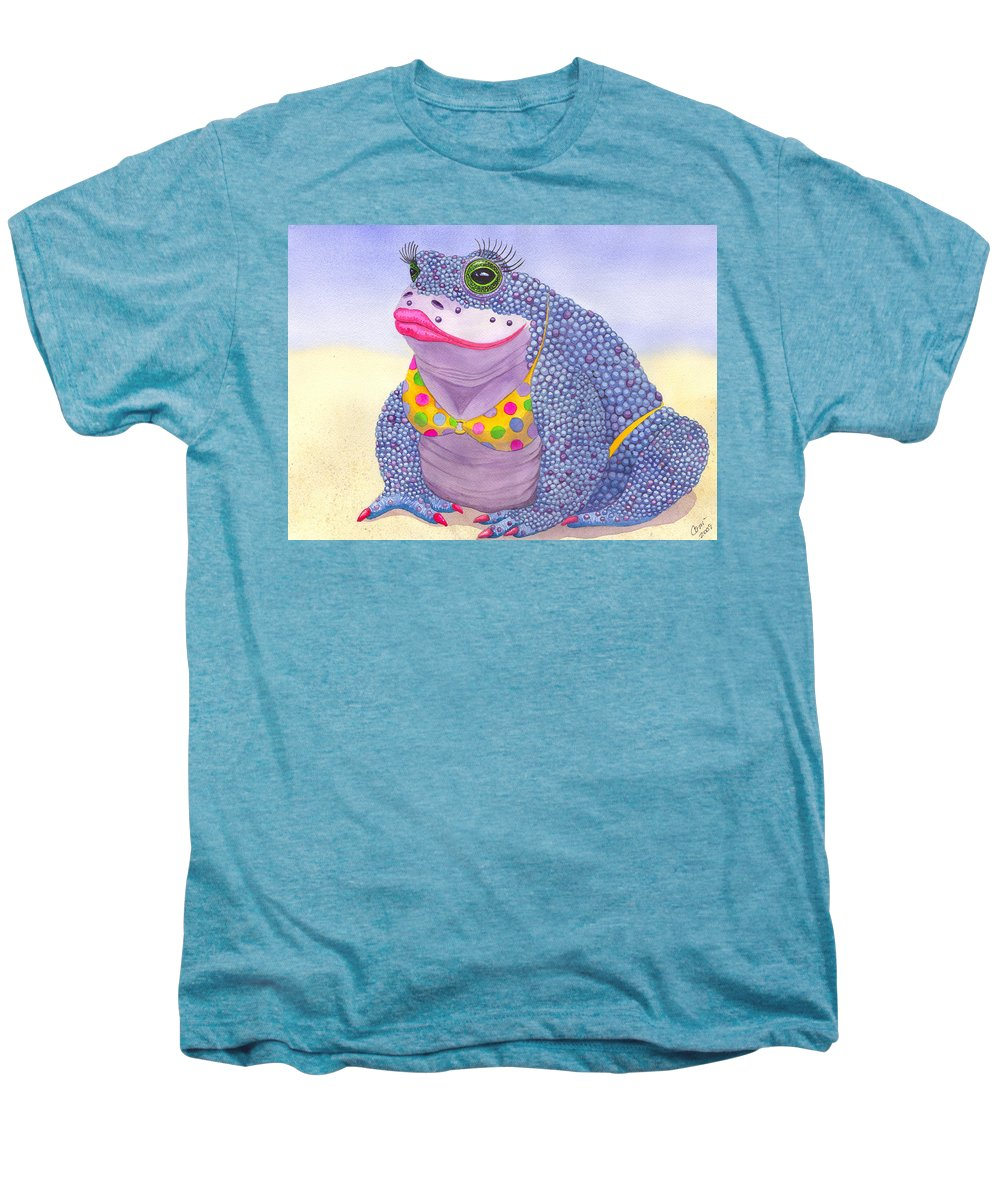 Toad Men's Premium T-Shirt featuring the painting Toadaly Beautiful by Catherine G McElroy
