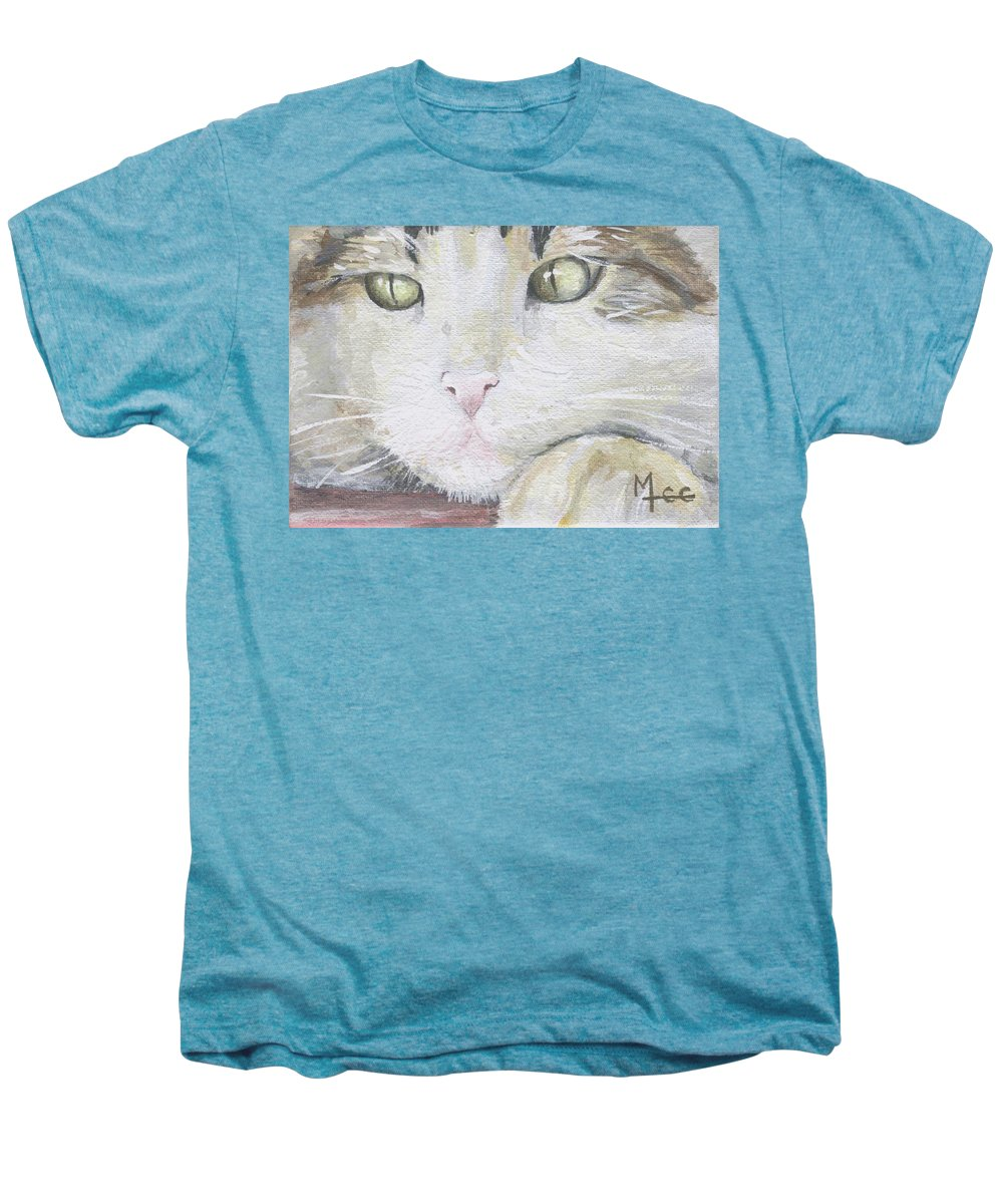 Charity Men's Premium T-Shirt featuring the painting Tommy by Mary-Lee Sanders