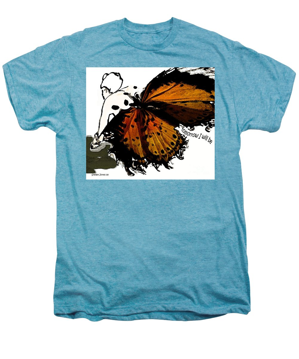 Woman Men's Premium T-Shirt featuring the digital art Tomorrow I Will Be by Shelley Jones