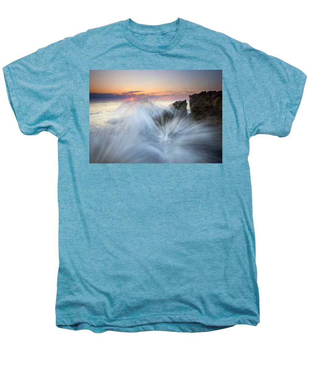 Sunrise Men's Premium T-Shirt featuring the photograph Too Close For Comfort by Mike Dawson