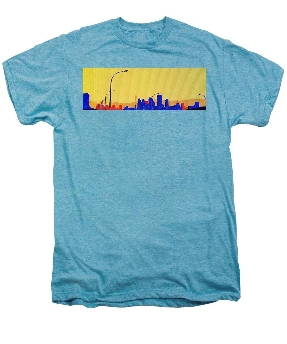 Toronto Men's Premium T-Shirt featuring the photograph Toronto Lemon Skyline by Ian MacDonald