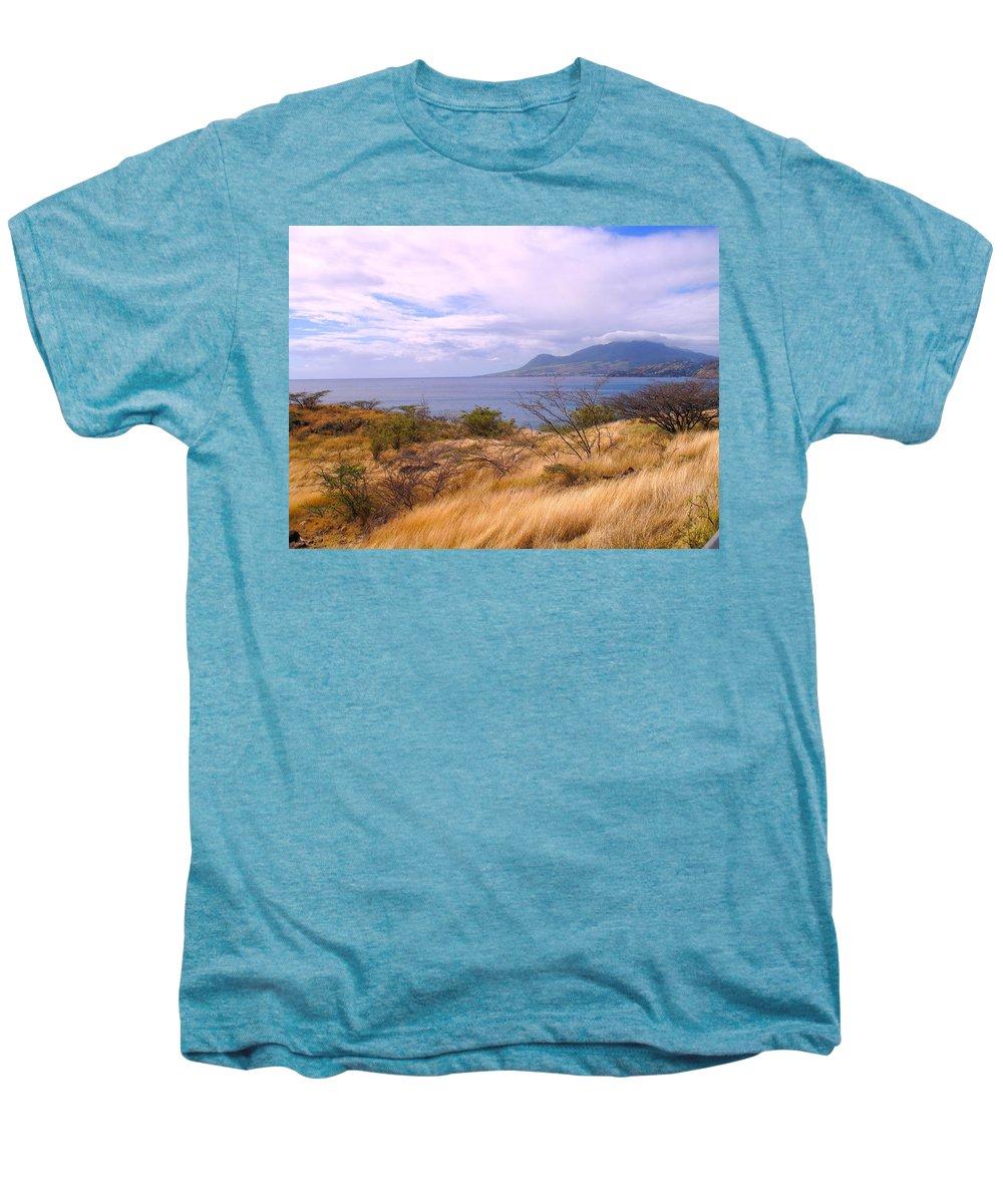 St Kitts Men's Premium T-Shirt featuring the photograph Towards Basseterre by Ian MacDonald