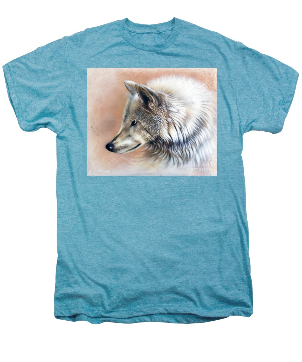 Wolves Men's Premium T-Shirt featuring the painting Trace IIi by Sandi Baker