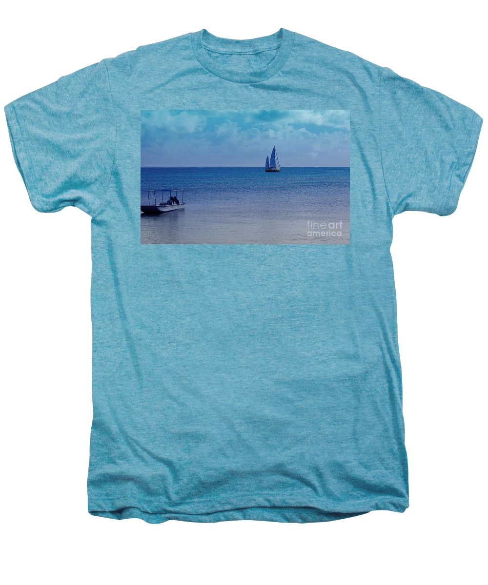 Water Men's Premium T-Shirt featuring the photograph Tranquil Blue by Debbi Granruth