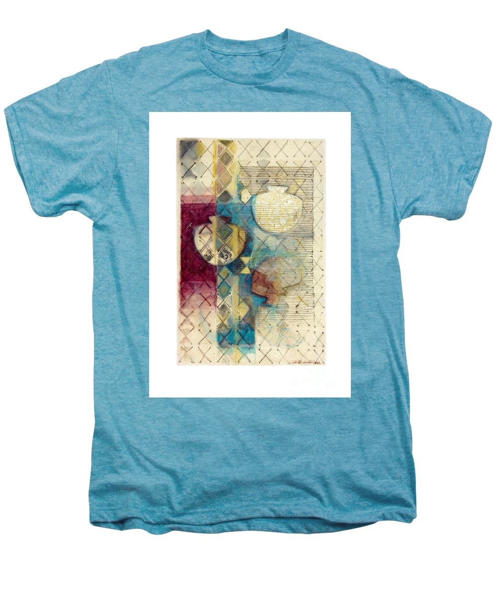 Mixed-media Men's Premium T-Shirt featuring the painting Trans Xs No 1 by Kerryn Madsen- Pietsch