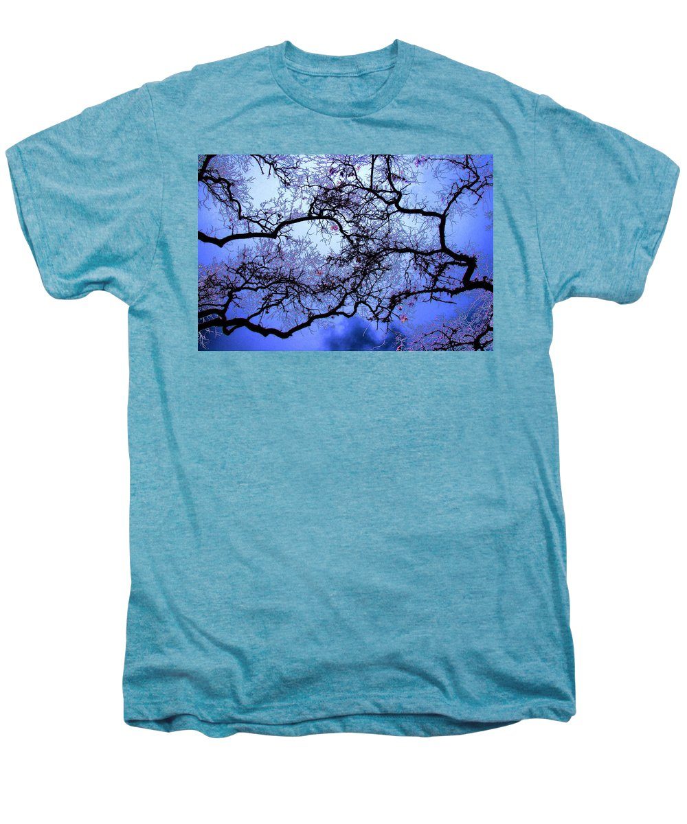Scenic Men's Premium T-Shirt featuring the photograph Tree Fantasy In Blue by Lee Santa