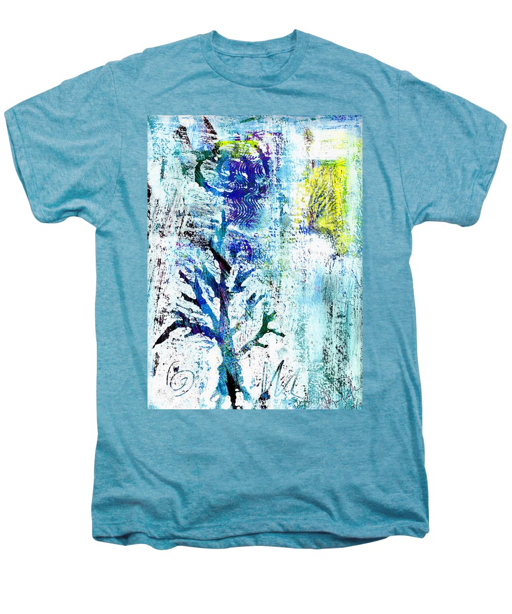 Tree Men's Premium T-Shirt featuring the painting Tree Of Life by Wayne Potrafka