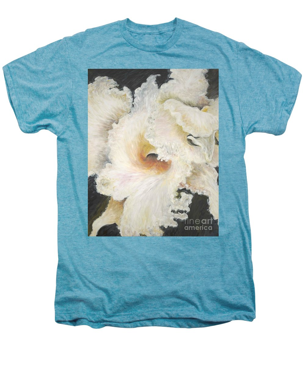 Flower Men's Premium T-Shirt featuring the painting Tropical Flowers by Nadine Rippelmeyer