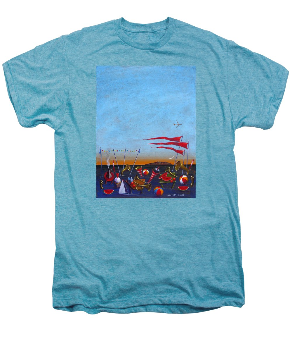 Piano Men's Premium T-Shirt featuring the painting Trumpets Of The Mediterranean by Dimitris Milionis