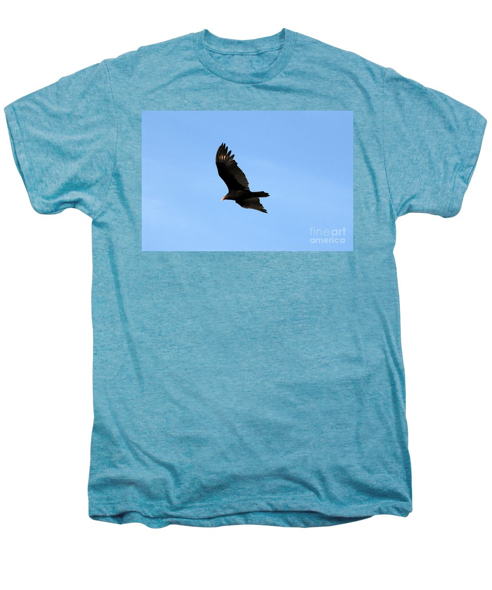 Turkey Vulture Men's Premium T-Shirt featuring the photograph Turkey Vulture by David Lee Thompson