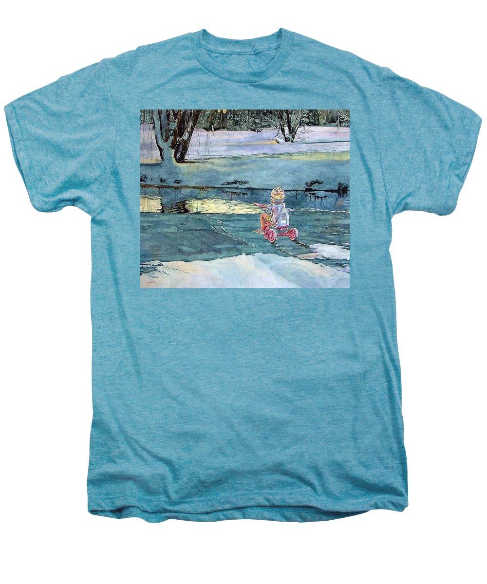 Children Men's Premium T-Shirt featuring the painting Twilight by Valerie Patterson