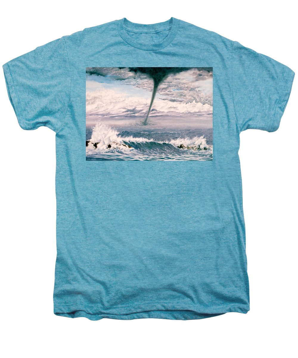 Seascape Men's Premium T-Shirt featuring the painting Twisted Nature by Mark Cawood